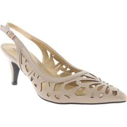 Women's Annie Dazzle Slingback Taupe Calf Polyurethane