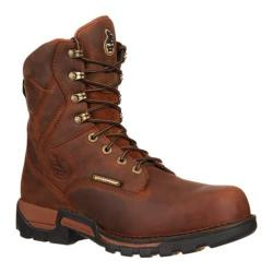 Men's Georgia Boot GBOT069 8in Eagle One Composite Toe Brown Full Grain Leather