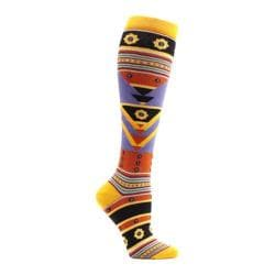 Women's Ozone Tribal Triangles Knee High Socks Orange