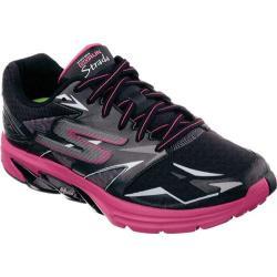 Women's Skechers GOrun Strada Black/Hot Pink