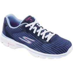 Women's Skechers GOwalk 3 FitKnit Navy/Light Blue
