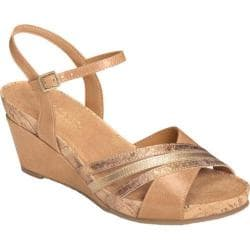 Women's Aerosoles Lighted Path Sandal Tan Gold Synthetic/Snake/Patent