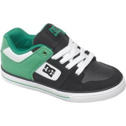 Children's DC Shoes Pure Black/Green/White