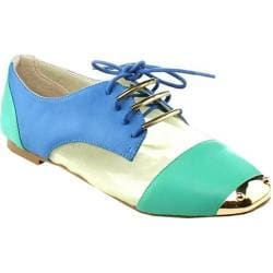 Women's L & C Jolie06 Colorblock Oxford Blue/Emerald