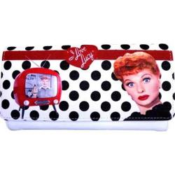 Women's I Love Lucy Signature Product I Love Lucy Polka Dot Wallet LU810 Black