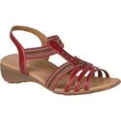 Women's Remonte Elea 04 Sandal Rosso/Rot-Multi Leather