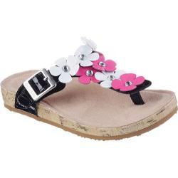 Girls' Skechers Granola Flower Pop Sandal Black/White