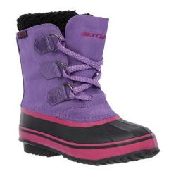 Girls' Skechers Lil Blizzards Purple Rain Boot Purple/Black