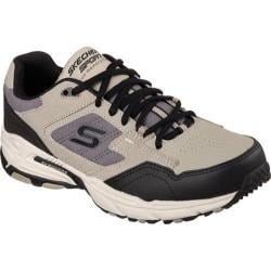 Men's Skechers Stamina Plus Trainer Taupe/Black