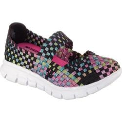 Girls' Skechers Synergy Skippin Style Woven Mary Jane Black/Multi