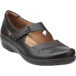 Women's Clarks Evianna Date Black Leather