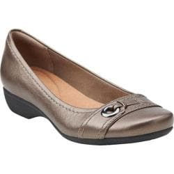 Women's Clarks Propose Spire Pewter Leather