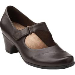 Women's Clarks Sugar Palm Dark Brown Leather
