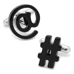 Men's Cufflinks Inc Social Media Cufflinks Black