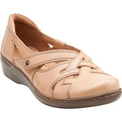 Women's Clarks Evianna Peal Beige Leather