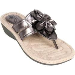 Women's Cliffs by White Mountain Carlina Pewter Metallic Smooth