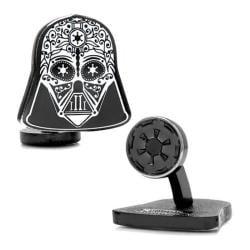 Men's Cufflinks Inc Darth Vader Sugar Skull Cufflinks Black 15420892