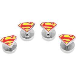 Men's Cufflinks Inc Enamel Superman Shield Tuxedo Studs Red 15421693