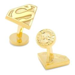Men's Cufflinks Inc Gold Superman Shield Cufflinks Gold
