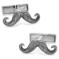 Men's Cufflinks Inc I Moustache You A Question Sterling Cufflinks Silver