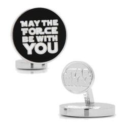 Men's Cufflinks Inc May the Force Be With You Cufflinks Black