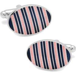 Men's Cufflinks Inc Oval Repp Stripe Cufflinks Blue