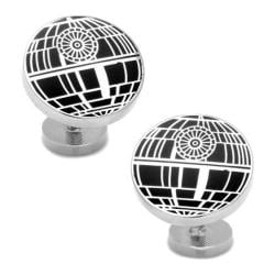 Men's Cufflinks Inc Recessed Matte Death Star Cufflinks Black 15421825