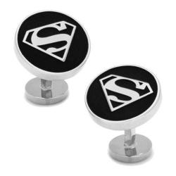 Men's Cufflinks Inc Recessed Superman Shield Cufflinks Black