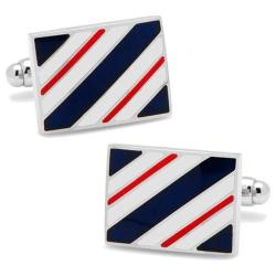 Men's Cufflinks Inc Rectangle Repp Stripe Cufflinks Blue
