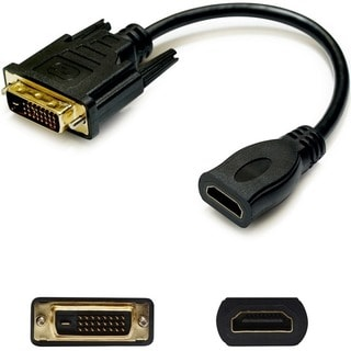 AddOn HDMI Male to DVI-D Dual Link (24+1 pin) Female Black Adapter Ca