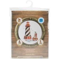 Seal Bay Lighthouse Counted Cross Stitch Kit - 6-3/4 X9-3/4 16 Count