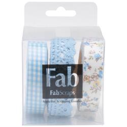 Self-Adhesive Ribbons 3/Pkg - Pastel Blues