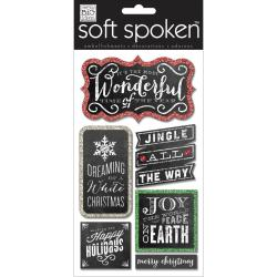 Soft Spoken Themed Embellishments - Chalk-Wonderful Time Of Year