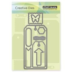 Penny Black Creative Dies - Tagged, 2.7 X6.4