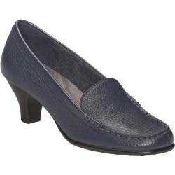 Women's Aerosoles Wise Choice Dark Blue Textured Leather