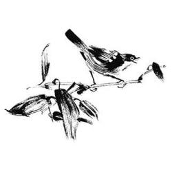 Penny Black Mounted Rubber Stamp 3.25 X4.5 - Song Bird