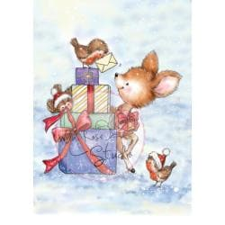 Wild Rose Studio Ltd. Clear Stamp 3.5 X3 Sheet - Bluebell Behind The Presents