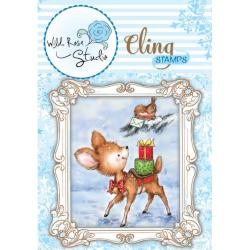 Wild Rose Studio Ltd. Cling Stamp 3 X3.5 Sheet - Bluebell W/Saddle