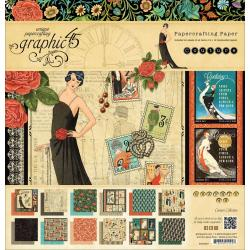 Couture Double-Sided Paper Pad 12 X12 - 24 Sheets - 12 Designs/2 Each