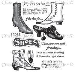 Chapel Road Cling Mounted Rubber Stamp Set 5.75 X6.75 - Shoes