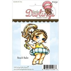 Cutie Pies Unmounted Rubber Stamp 3.25 X2.249 - Beach Babe