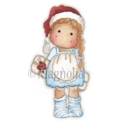 Sweet Dreams Christmas Cling Stamp 6.5 X3.5 Package - Tilda Hiding Gift