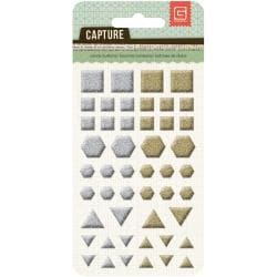 Capture Candy Buttons Epoxy Stickers - Metallic Shapes