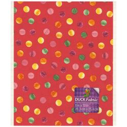 Fabric Sheet 8 X10 - Coral Polka Dot