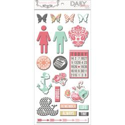Daily Stories Adhesive Chipboard 12 X6 Sheets 2/Pkg - Elements