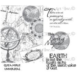 Chapel Road Cling Mounted Rubber Stamp Set 5.75 X7.75 - Wonderful World