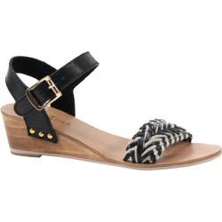 Women's Diba True Plat Form Black/White Leather