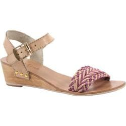 Women's Diba True Plat Form Nude/Fuchsia Leather