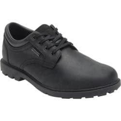 Men's Rockport Rugged Bucks Waterproof Plain Toe New Black Leather