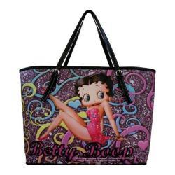 Women's Betty Boop Signature Product Betty Boop Handbag BP2084 Black